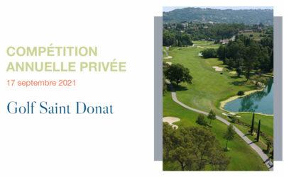 Compétition Annuelle – Golf de Saint Donat
